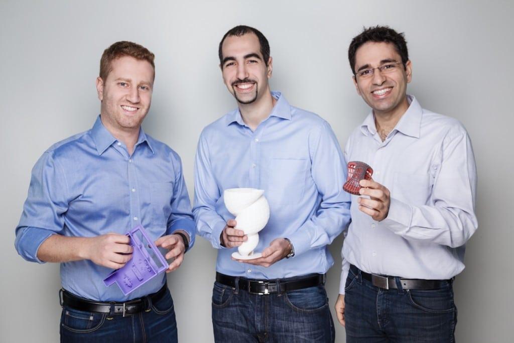 מנהלי מרכז הפיתוח של אוטודסק בישראל. מימין: צרפתי, רוטביין וסרוסי. צילום: רוני פרל