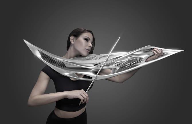 כינור 2-string Piezoelectric קרדיט: MONAD Studio / Eric Goldemberg + Veronica Zalcberg
