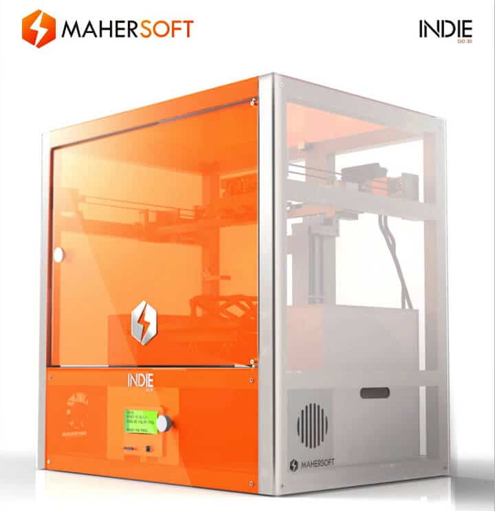 THE3DZONE-Indie-3D-Printer מדפסת תלת מימד