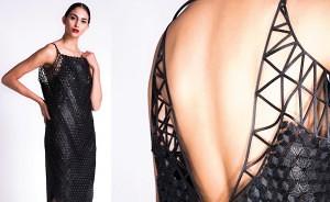 Black dress. Photo credit Daria Ratiner הדפסת תלת מימד